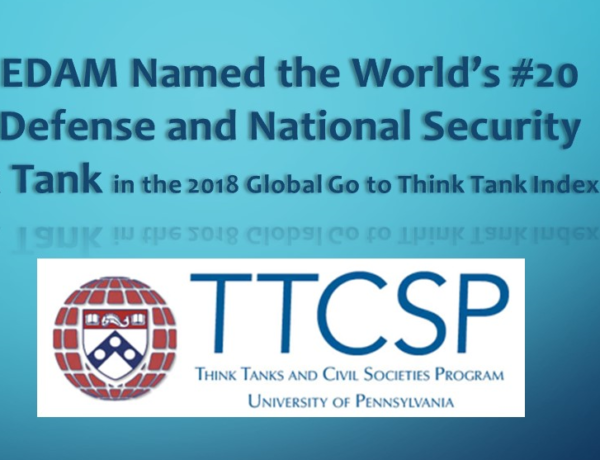 EDAM Named the World's #20 Defense and National Security Think Tank